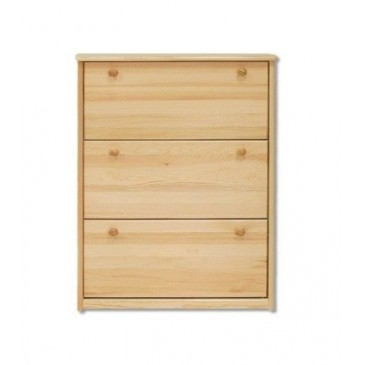 Dřevěný výklopný botník z masivu SB113, borovice