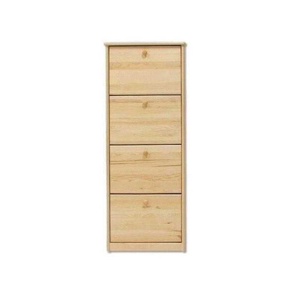 Dřevěný výklopný botník z masivu SB111, borovice