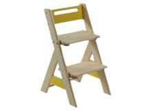 Dětská rostoucí židle ZUZU J0565F, žlutá