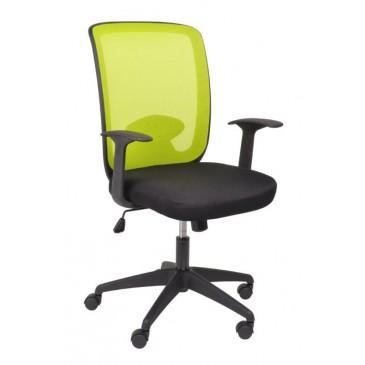 Kancelářská židle W-81B, bílá, zelená, černá