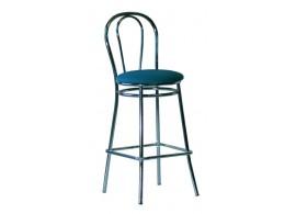 Barová židle Tulipan Hocker, chrom