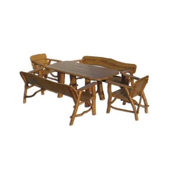 Zahradní sestava - stůl a lavice Drew-102, masiv dub