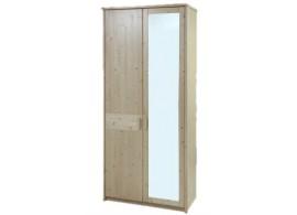 Šatní skříň ENNA 2D se zrcadlem F0072, smrk+lamino