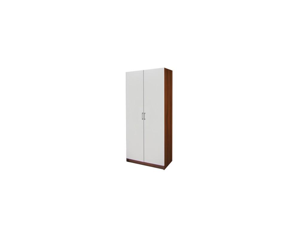 Šatní skříň dvoudveřová IA61520, ořech/bílá