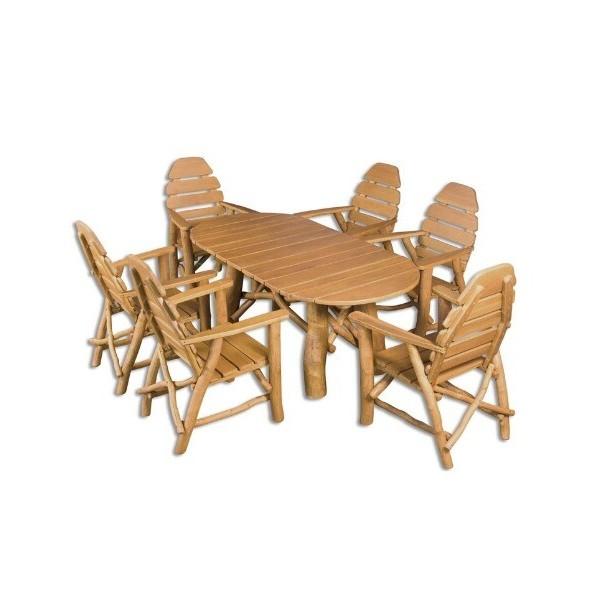 Zahradní sestava - stůl a židle Drew-104, masiv dub