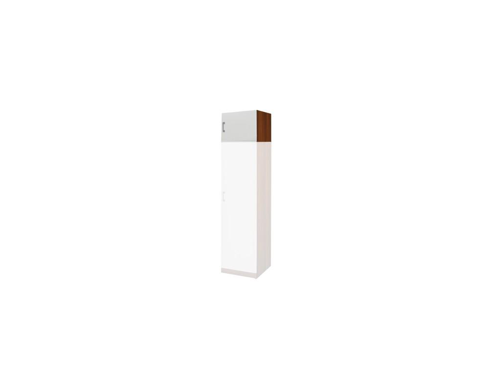 Nástavec šatní skříně IA61515, ořech/bílá