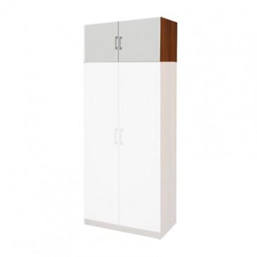 Nástavec šatní skříně IA61525, ořech/bílá