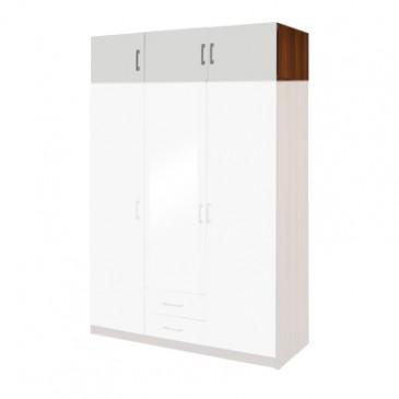 Nástavec šatní skříně IA61535, ořech/bílá