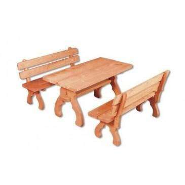 Zahradní sestava - stůl a lavice Drew-106, masiv smrk