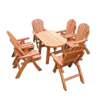 Zahradní sestava - stůl a židle Drew-107, masiv smrk