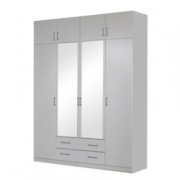 Šatní skříň čtyřdveřová IA21540, bílá