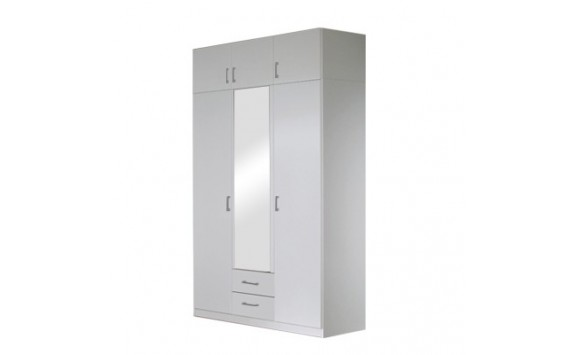 Šatní skříň třídveřová IA21530, bílá