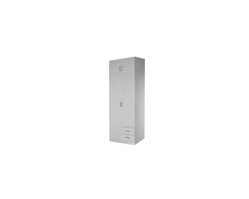 Šatní skříň dvoudveřová IA21521, bílá