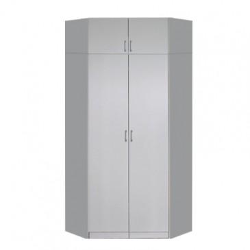 Rohová šatní skříň dvoudveřová IA21550, bílá