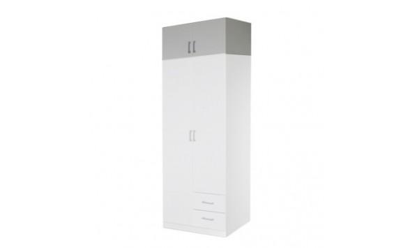 Nástavec šatní skříně IA21525, bílá