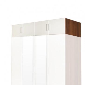 Nástavec šatní skříně IA61545, ořech/bílá