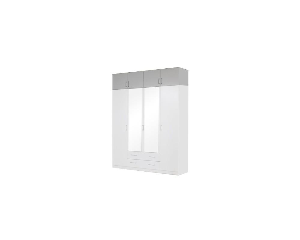 Nástavec šatní skříně IA21545, bílá