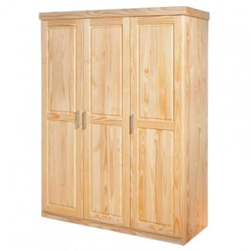 Šatní skříň 3D IA8883, masiv borovice