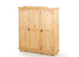 Rustikalní šatní skříň IA110, masiv borovice