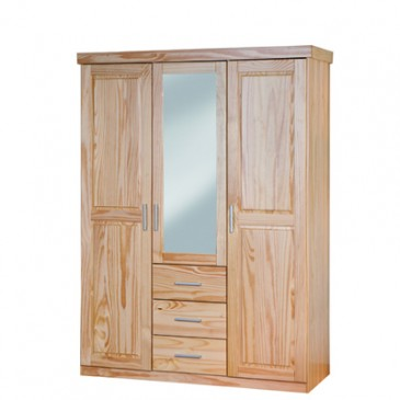 Šatní skříň IA335, masiv borovice
