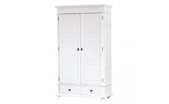 Šatní skříň IA130, bílá, masiv borovice