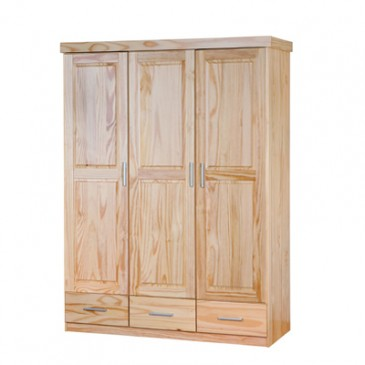Šatní skříň 3D IA330, masiv borovice