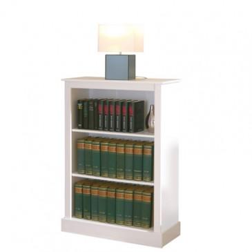Knihovna IA540, masiv borovice, bílá