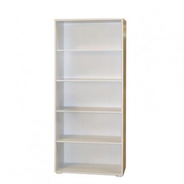 Regál, policová knihovna IA310B, lamino bílá