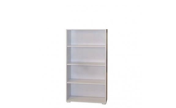 Regál, policová knihovna IA330B, lamino bílé