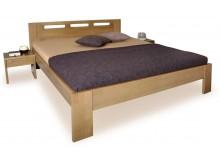 Manželská postel - dvojlůžko NELA 180x200, masiv buk - moření tabák