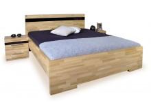 Manželská postel z masivu - dvojlůžko MONA 180x200, buk