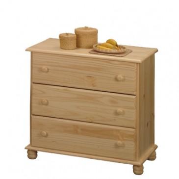 Prádelník - 3 zásuvkový IA8013, masiv borovice