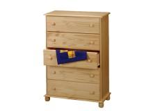Komoda-Prádelník - 5 zásuvkový IA8015, masiv borovice