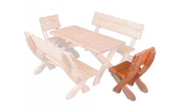 Zahradní židle - křeslo Drew-105, masiv smrk