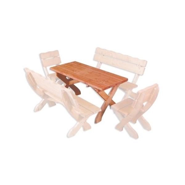 Zahradní stůl Drew-105, masiv smrk