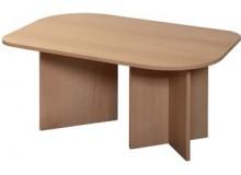 Oválný konferenční stolek IA7909A, lamino buk