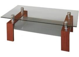 Skleněný konferenční stolek IA3005, mahagon