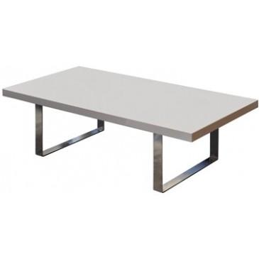 Stylový konferenční stůl IA3043, bílý lesk