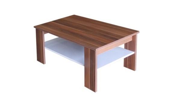 Konferenční stolek IA67950, ořech-bílá