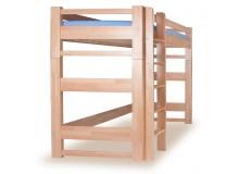 Patrová postel - horní spaní LUCAS, masiv buk