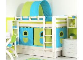 Dětská poschoďová postel - palanda DOMINO D856 nízká, masiv smrk