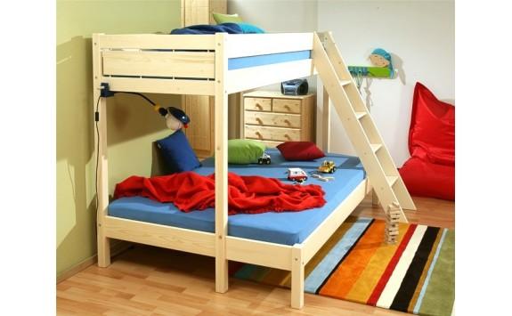 Poschoďová postel Terry 381 140x200/90x200