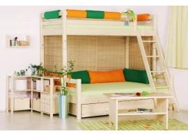 Poschoďová postel - palanda DOMINO D909, masiv smrk