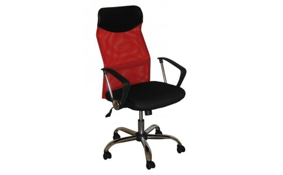 Kancelářské křeslo IAK56, červená-černá
