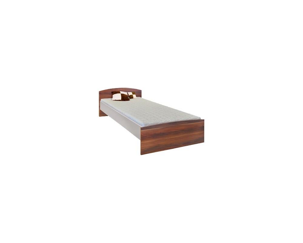 Postel jednolůžko 90x200 IA60343, ořech-bílá