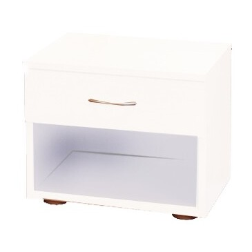 Noční stolek k posteli IA140B, lamino bílé