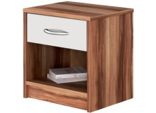 Noční stolek IA4621, ořech-bílá