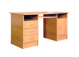Psací PC stůl se skříňkou a šuplíky IA194A - buk
