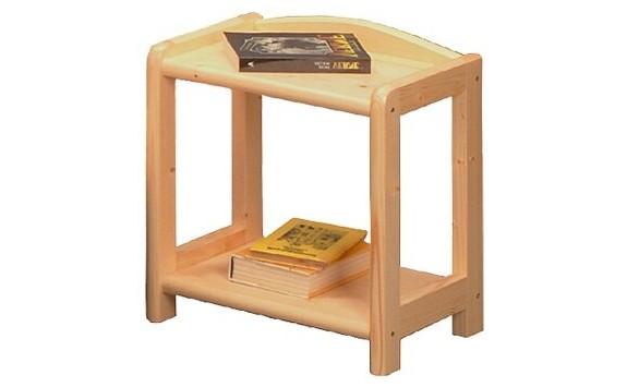 Noční stolek IA710, masiv smrk, nelakovaný
