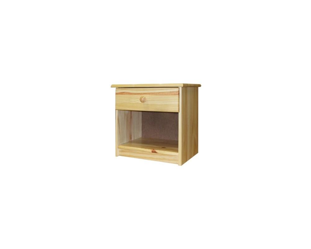 Noční stolek IA8812, masiv borovice